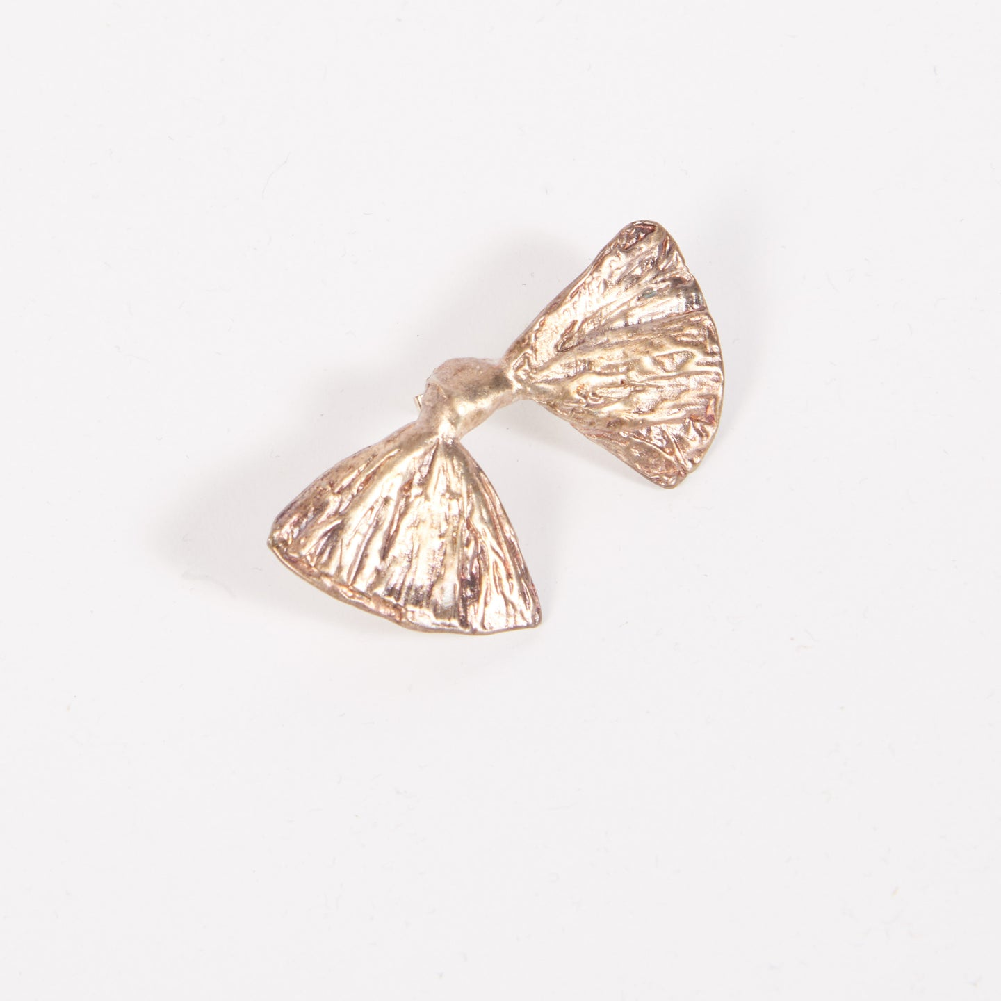 Silver bow earring (single)