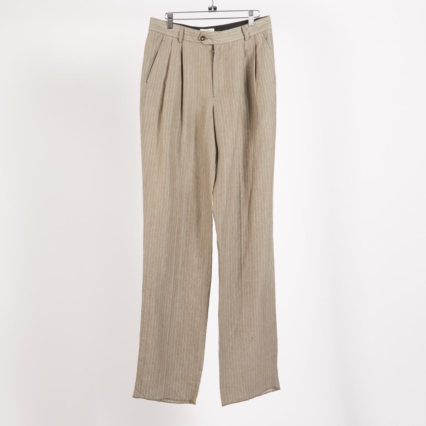 Stone/Blue High Waisted Paul Pleated Pants (Size 48, 52)