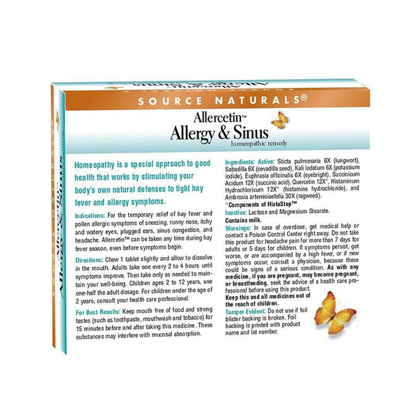 Allercetin Allergy & Sinus Tablets