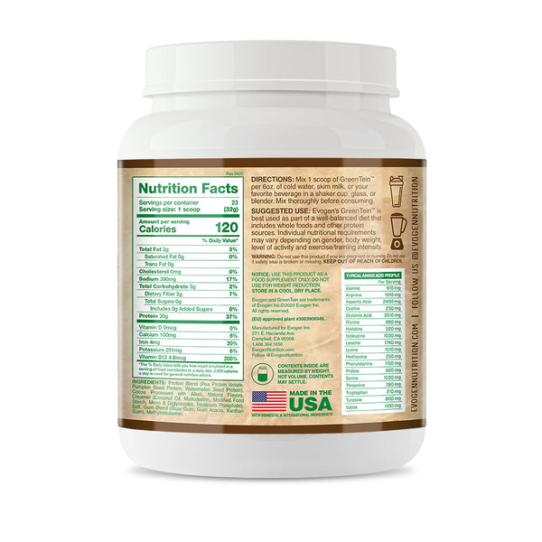 GreenTein - Vegan Protein Powder