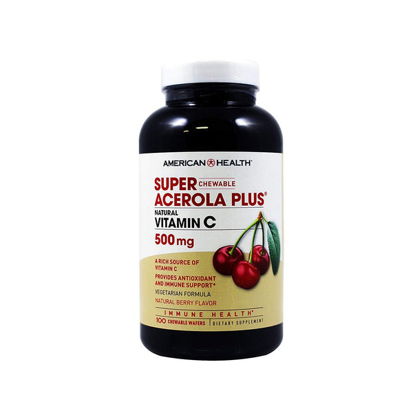 Vitamin C Super Acerola Plus Chewable Wafer Natural Berry