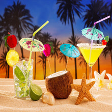 Load image into Gallery viewer, 50PCs/Pack -  Plastic Straws with Umbrella for Cocktails