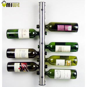 Creative Stainless Steel Wine Rack Holders 8/12 Holes Home Bar Bottle Display Stand Rack Suspension Storage Organizer