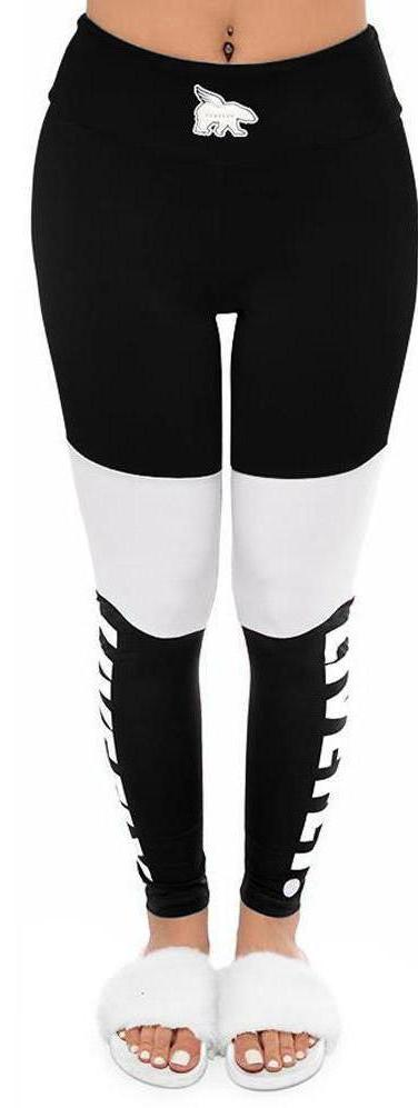 ***LIMITED RELEASE***3 Panel High Waist Mesh Leggings: Black/White/Black