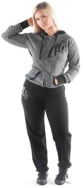 FOREVER FLY. Comfort Sweatsuit: Black