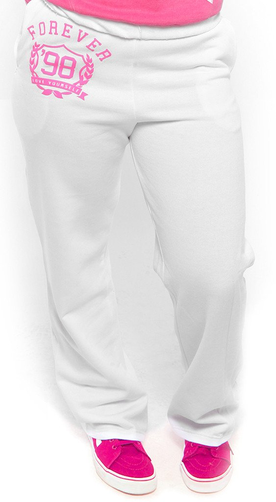 FOREVER LOVE YOURSELF Sweatpants: WHITE (UNISEX FIT)
