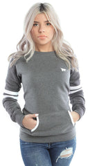 Flypolar Varsity Pocketed Crewneck - Grey/White