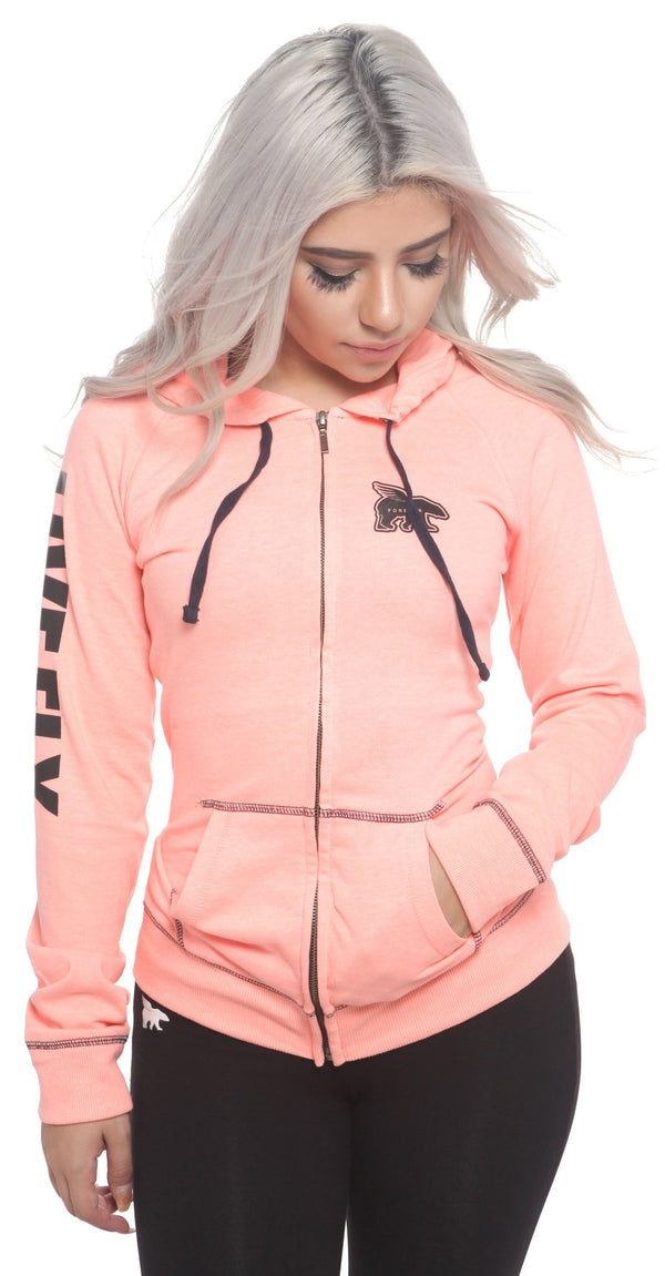 LIVE FLY.'s My Favorite Zip-Up Hoodie: PEACH