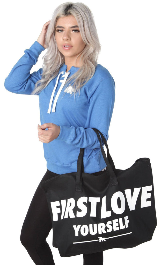 *FREE with ORDER TODAY* FIRST LOVE YOURSELF Hangbag: All White