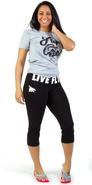 LIVE FLY. ALL DAY Capri's: Black/White