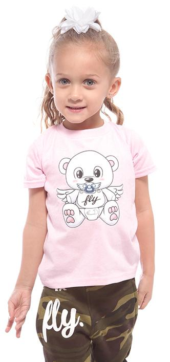 Toddler Baby FLY Tee: Pink