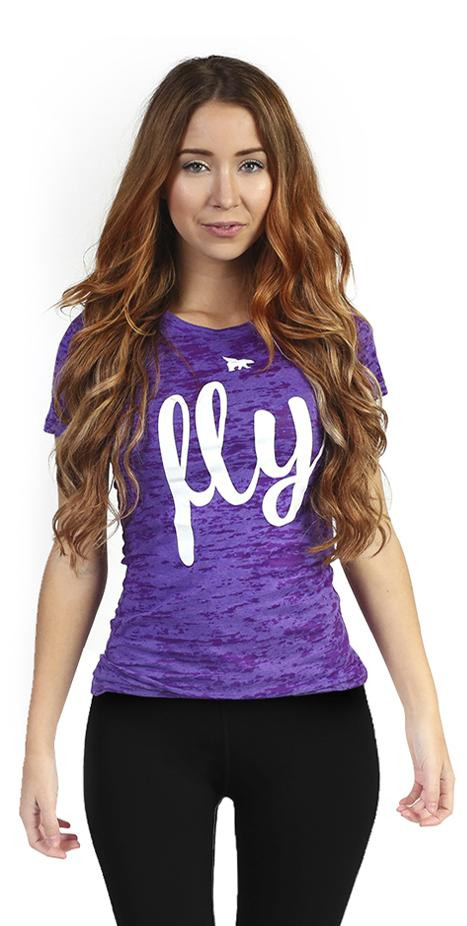 Lifestyle Burnout Tee: Berry Purple