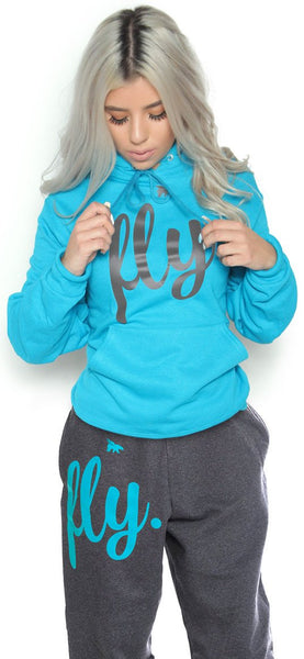 FLY. Comfort Outfit: Cali Blue/Dark Grey (UNISEX FIT)