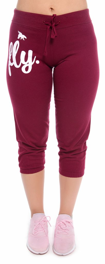 FLY. Lifestyle Capris: Maroon