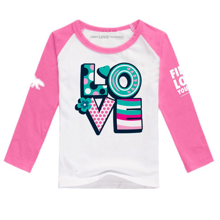 Celebrate Love Raglan: Pink/White
