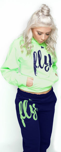 FLY. Comfort Outfit: Lime Green/Navy (UNISEX FIT)