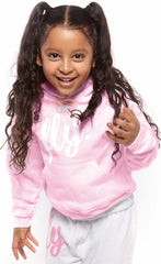 FLY. KIDS Comfort HOODIE: Light Pink/White