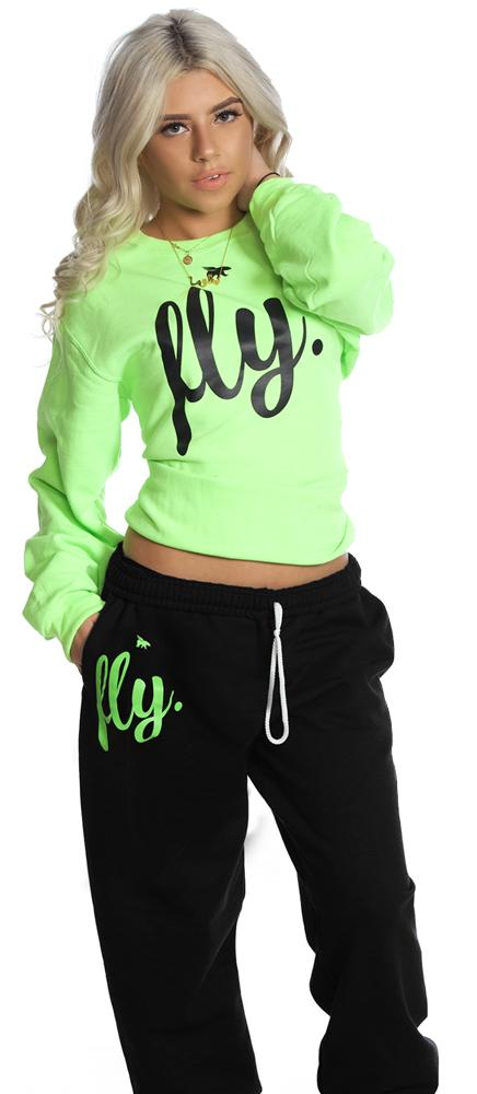LIMITED SUPPLY CLASSIC Comfort Crewneck Outfit: LIME/BLACK (UNISEX FIT)