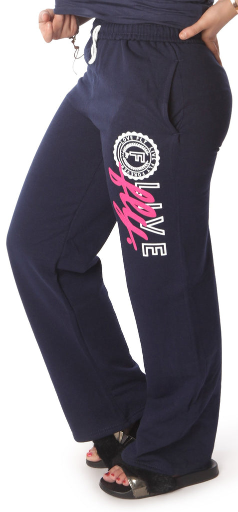 LIVE FLY. Collegiate Sweatpants: NAVY