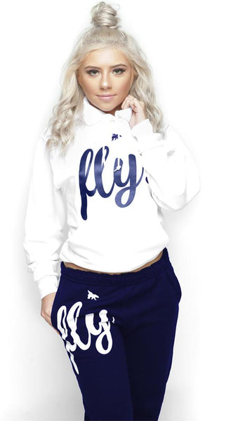 FLY. Comfort Outfit: White/Navy (UNISEX FIT)