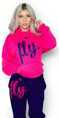 FLY. Comfort Outfit: Pink/Navy (UNISEX FIT)