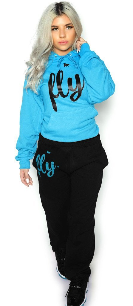 *LIMITED* FLY. Comfort Hoodie Outfit: Cali Blue/Black