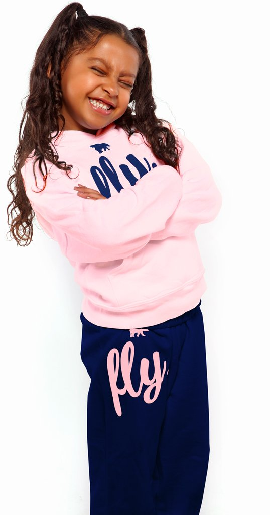 FLY. KIDS Comfort Outfit: Light Pink/Navy