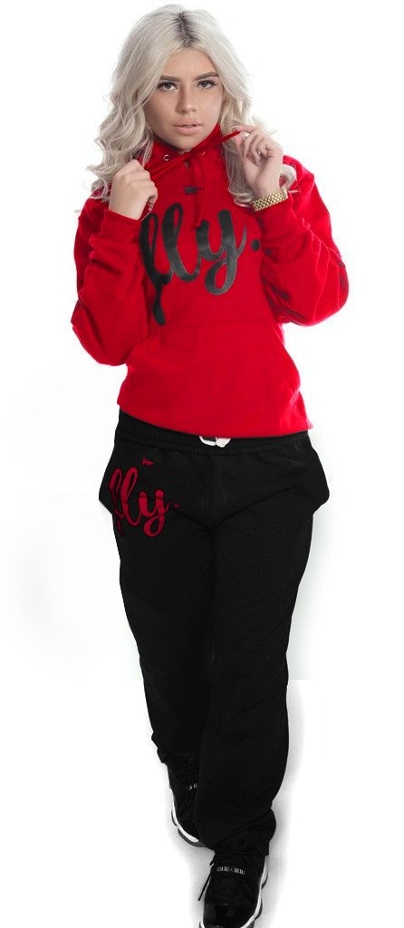 *LIMITED* FLY. Comfort Hoodie Outfit: Red/Black