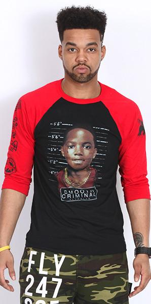 Crime Pays Smooth Criminal Raglan (red/black)