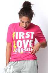FLY. - First Love Yourself tee: PINK