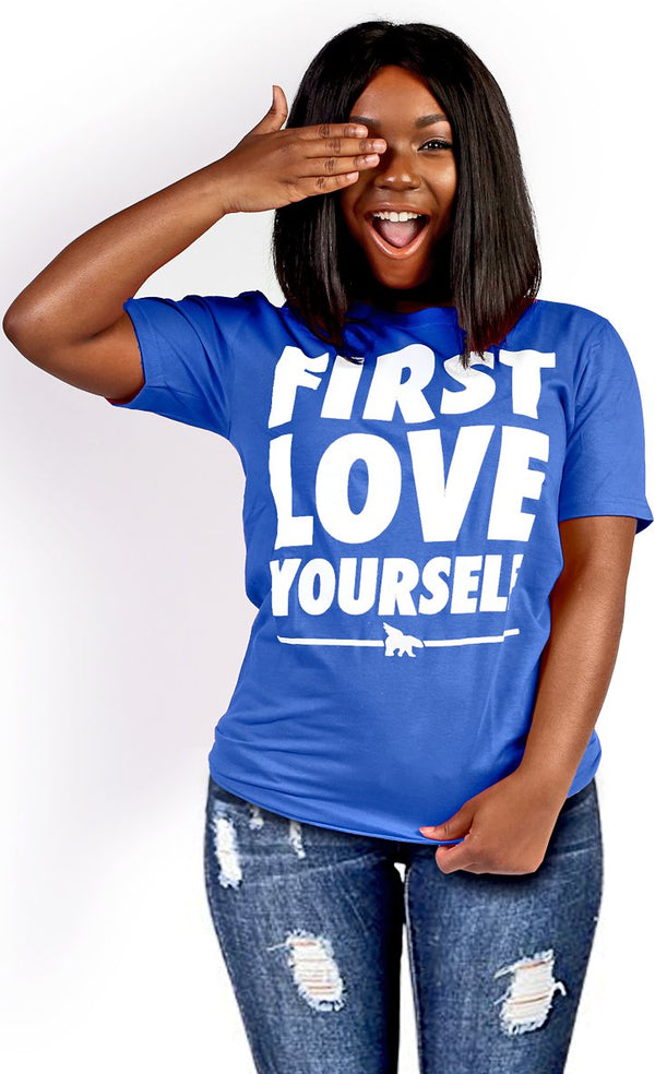 FLY. - First Love Yourself tee: Royal