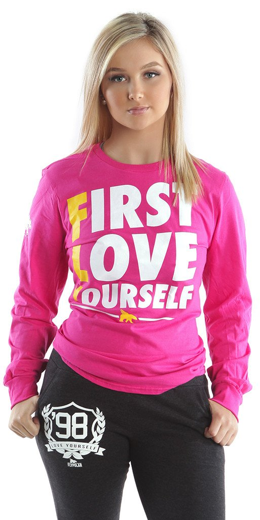 FLY. - First Love Yourself Long-Sleeve Tee: PINK