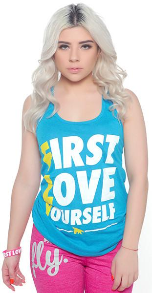 FLY. - First Love Yourself Tank: TEAL