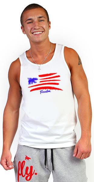 LIVE FLY. Celebrate Freedom Men's Tank