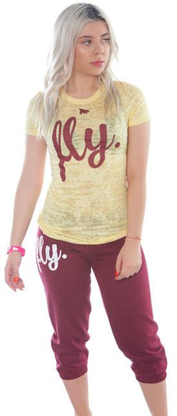 Lifestyle Capri Outfit: Yellow/Maroon