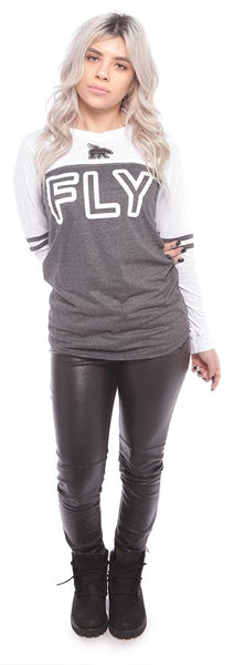 CAMPUS VARSITY Raglan: BLACK/WHITE