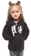 FLY. TODDLER Comfort Zip-Up Hoodie: Black