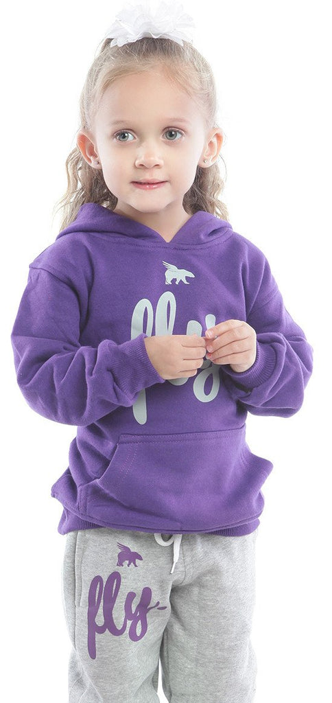KIDS Comfort Outfit: Purple/Grey