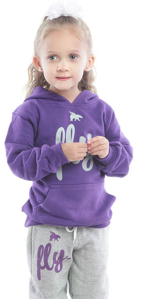 FLY. TODDLER KIDS Comfort Outfit: Purple/Grey