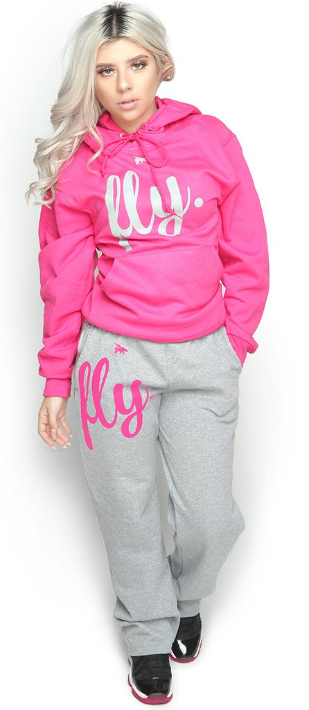 *LIMITED* FLY. Comfort Outfit: Pink/Grey (UNISEX FIT)