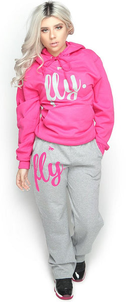 FLY. Comfort Outfit: Pink/Grey (UNISEX FIT)