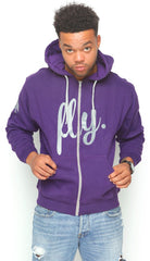 FLY. ZIP-UP HOODIE ONLY - PURPLE