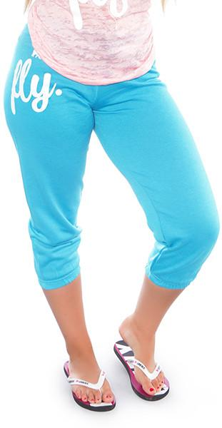 FLY. Lifestyle Capris: Turquoise