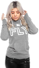 FLY Funnel Neck Campus Hoodie Tee: Grey