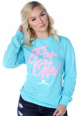 Certified FLY. Girl Long-Sleeve Shirt: Teal