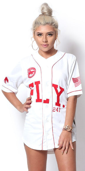 FLY 24/7 365 JERSEY - White w/ Red Lettering