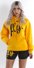 FLY. Comfort Oufit - Gold Hoodie W/ Lounge Shorts