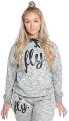 FLY. ALL DAY Marble Texture Hoodie