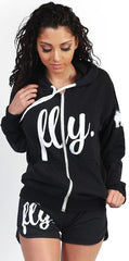 FLY. ZIP-UP HOODIE ONLY - BLACK