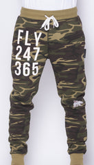 FLY 24/7 365 Joggers CAMO (slightly imperfect print)